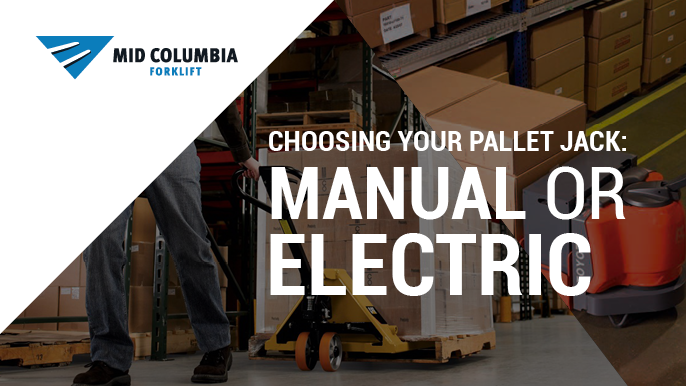 Blog Image - Choosing Your Pallet Jack - Manual or Electric