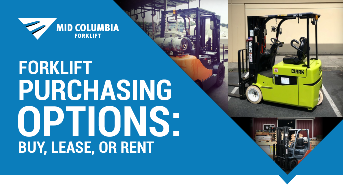 Blog Image - Forklift Purchasing Options Buy, Lease, or Rent