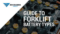 Blog Image - Guide to Forklift Battery Types