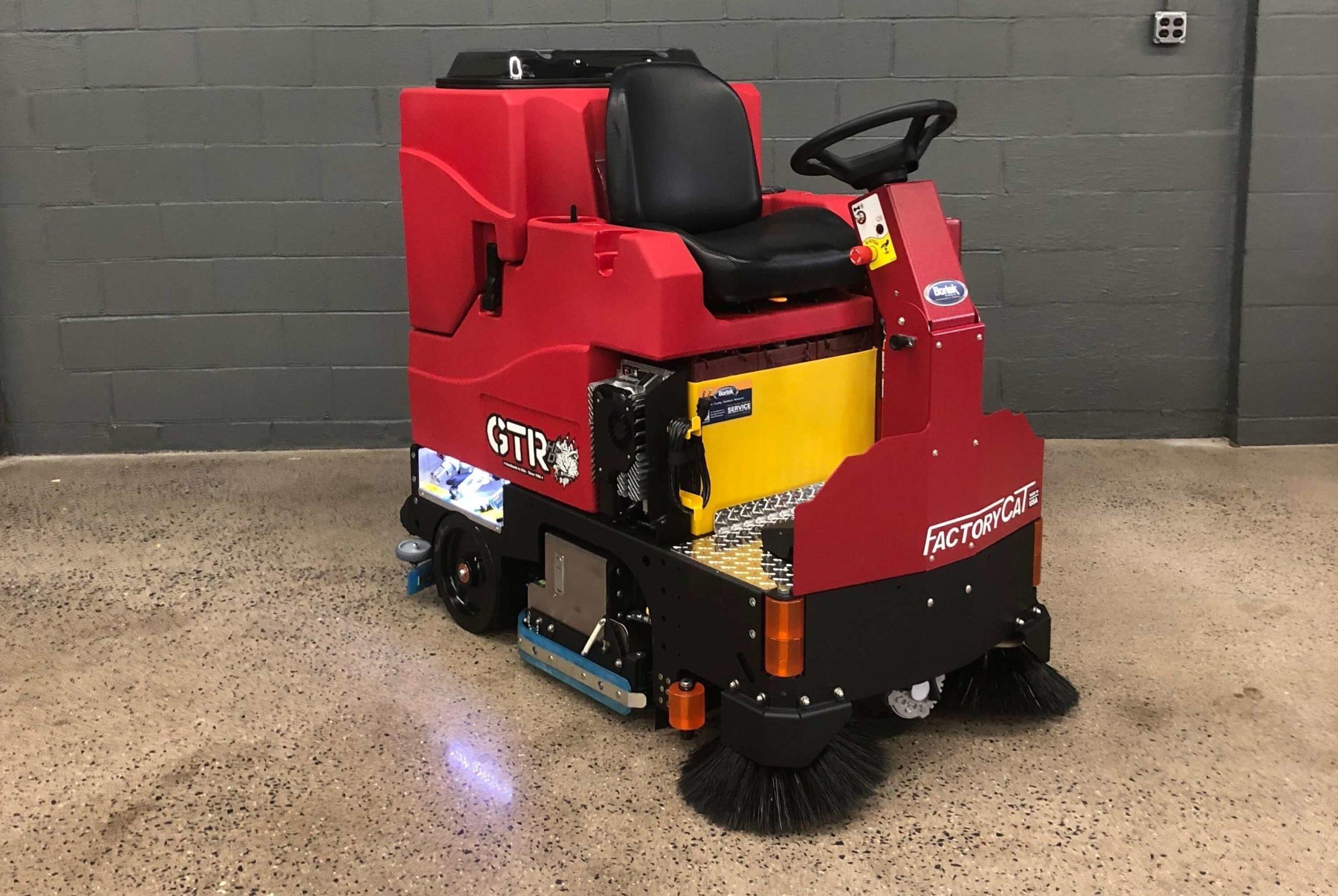 Factory-Cat-GTR-Rider-Floor-Scrubber-Sweeper-FR-Bortek-Industries-Inc-scaled