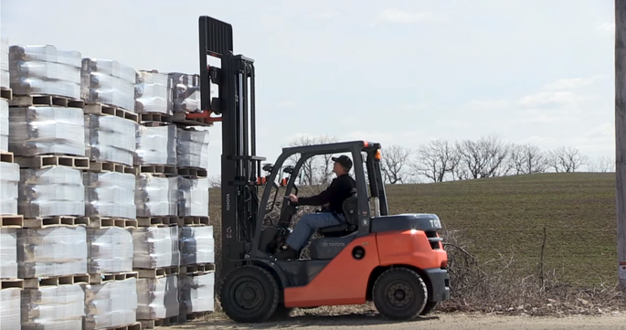 Forklift Hay Production
