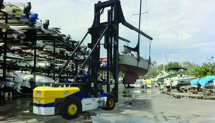 Negative Mast Lift for Marinas