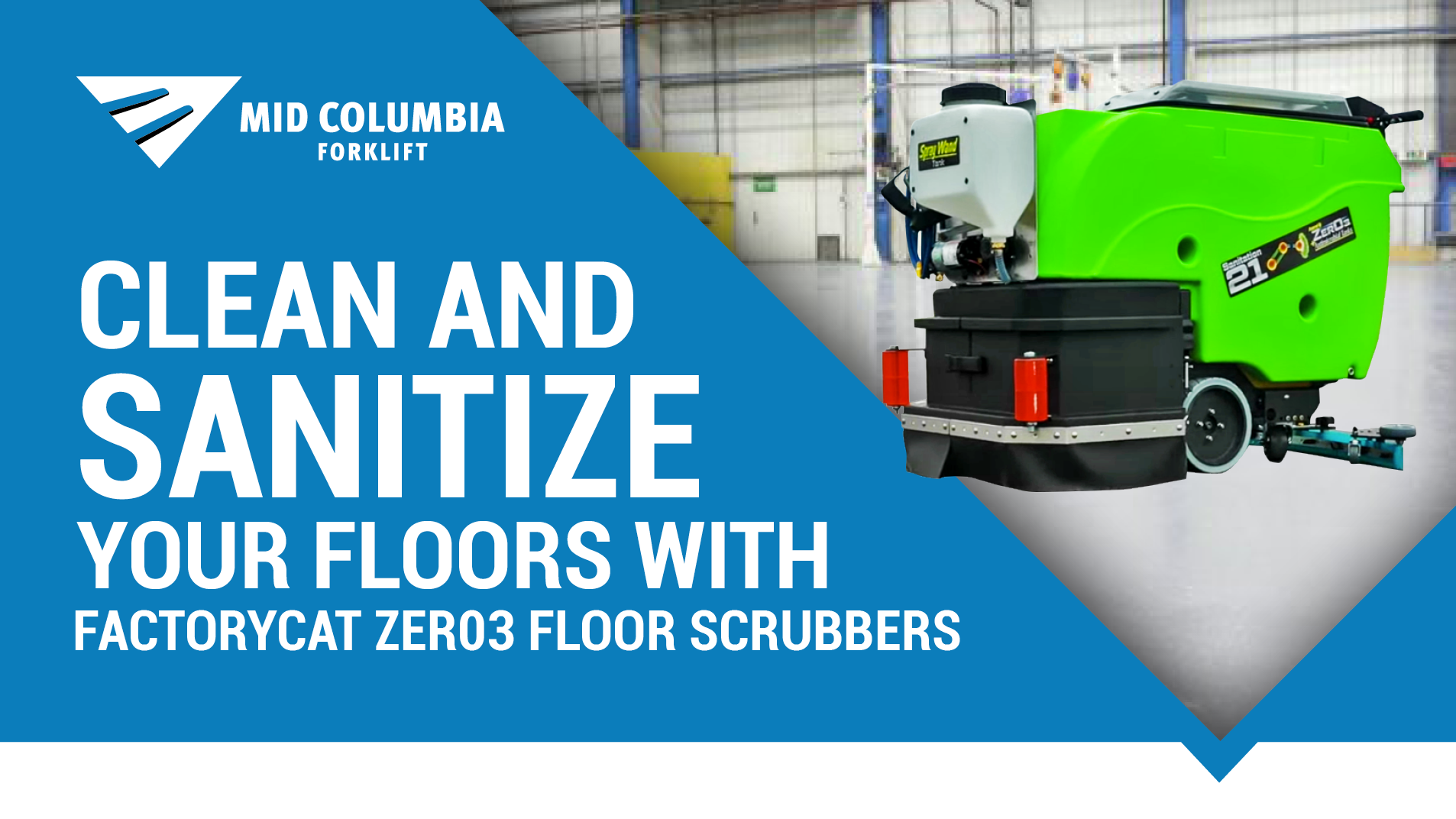 Clean and Sanitize Your Floors with FactoryCat Zer03 Floor Scrubbers