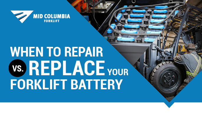 When to Repair Vs. Replace Your Forklift Battery